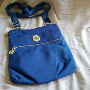Blue bagagllini crossbody bag. Excellent condition